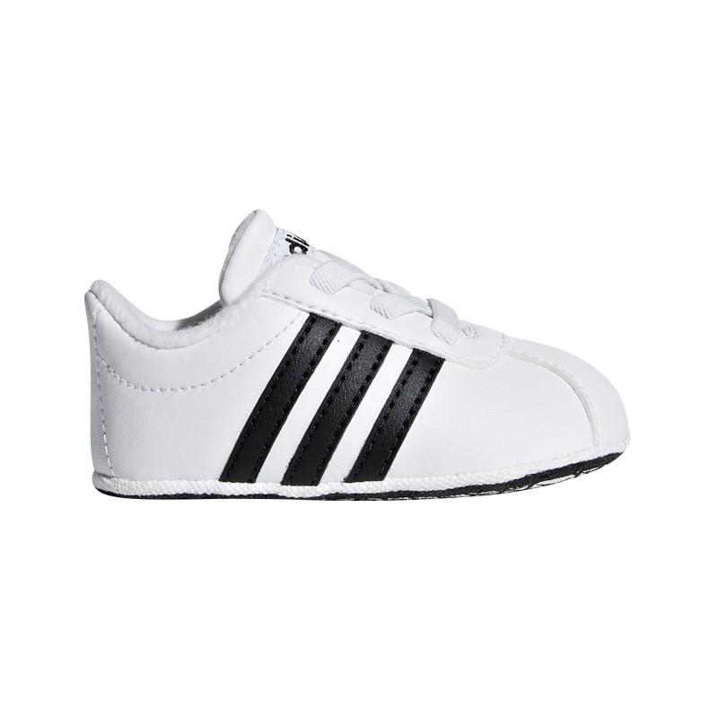 barato mejor valorado estilo clásico de 2019 San Francisco VL COURT 2.0 CRIB (blanco/negro) Zapatilla Adidas bebe