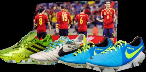 Botas de fútbol de colores